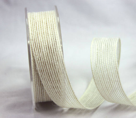 25mm Natural Jute Ribbon 10m Ivory