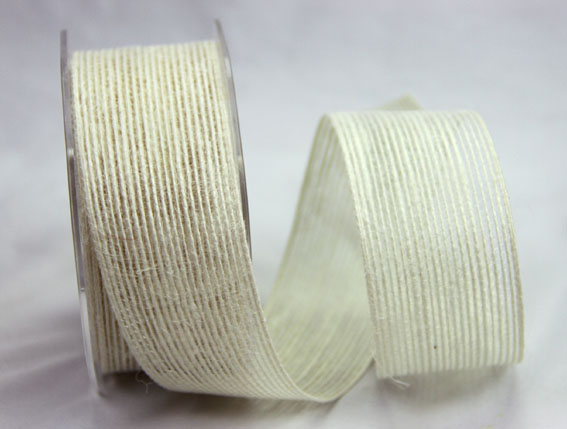 38mm Natural Jute Ribbon  10m Ivory