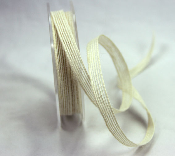 9mm Natural Jute Ribbon 20m Ivory