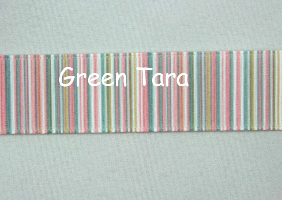 22mm Vertical Stripe Ribbon Pastel Pink