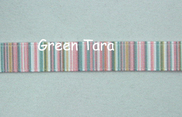 9mm Vertical Stripe Ribbon Pastel Pink