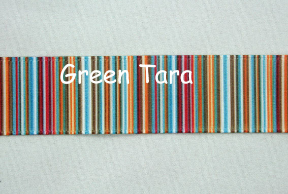 22mm Vertical Stripe Ribbon Red/Blue