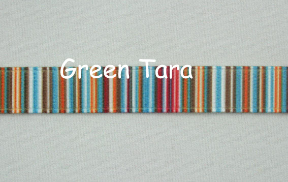 9mm Vertical Stripe Ribbon Red/Blue