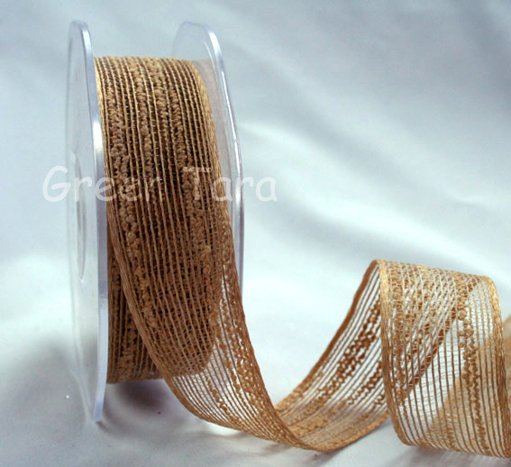 25mm Coloured Jute Ribbon Camel 10m
