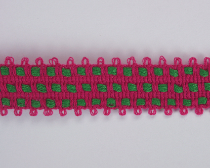 2 Tone Trim 15mm Hot Pink/Green 20m