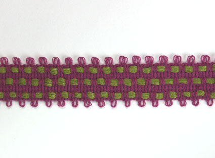 2 Tone Trim 15mm Plum/Olive 20m
