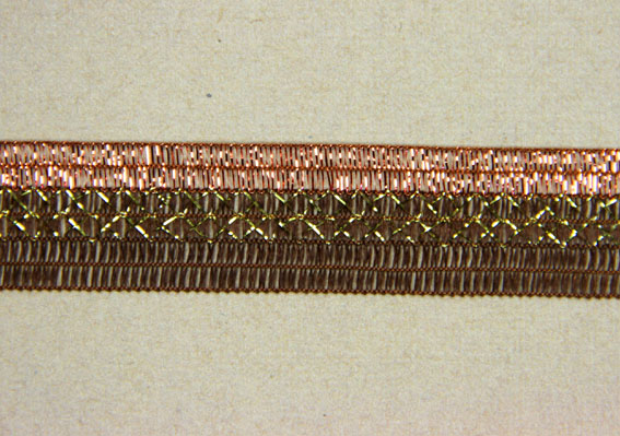 10M Woven Shimmer Ribbon 20mm,  Brown