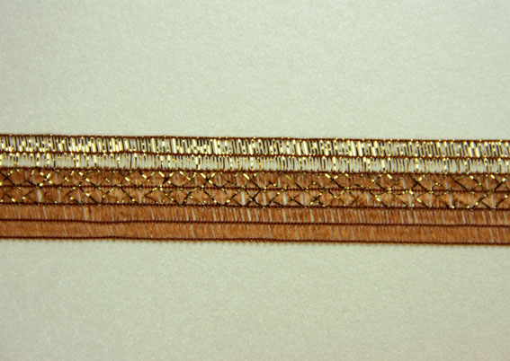 10M Woven Shimmer Ribbon 20mm,  Gold