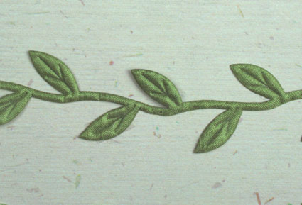Satin Leaf Trim, Green