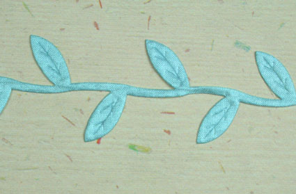 Satin Leaf Trim, Sky Blue