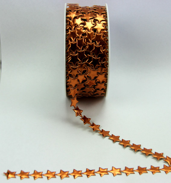 10mm Self Adhesive Star  Trim 10m, Copper