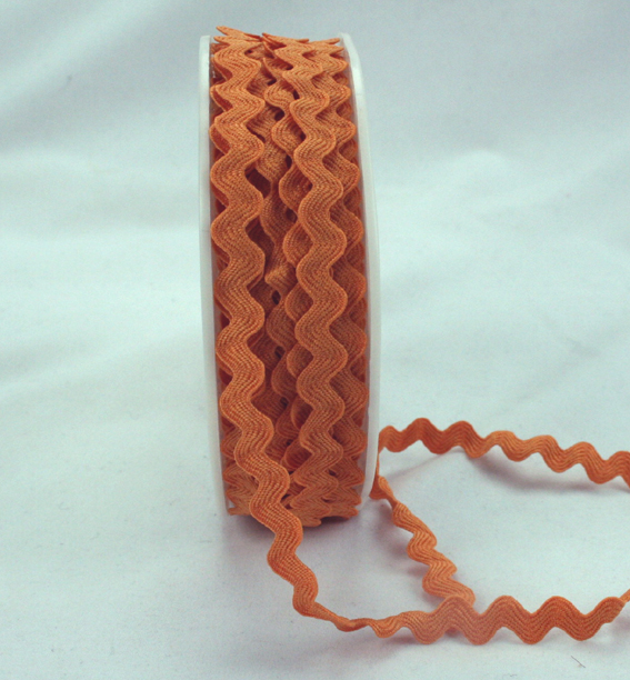 6mm Ric Rac Orange 20m Roll