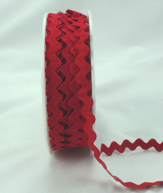 6mm Ric Rac Red 20m Roll