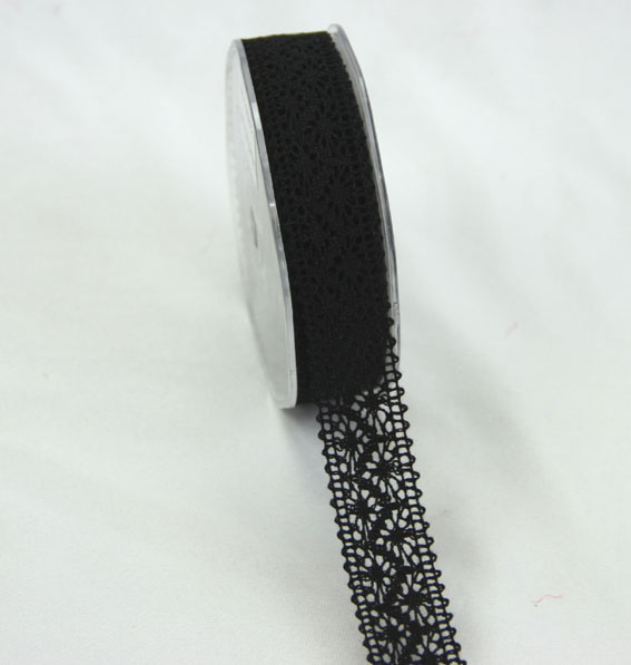 10m Lace Ribbon, 22mm Black