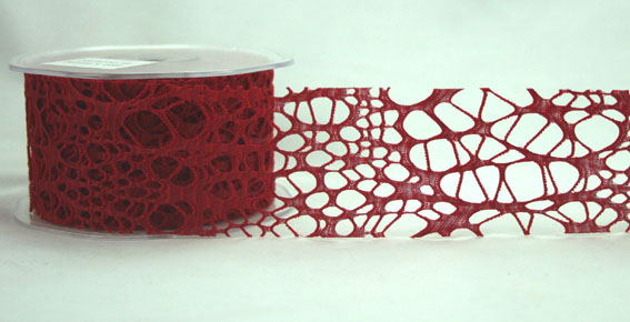 50mm Cobweb Red 10m Roll