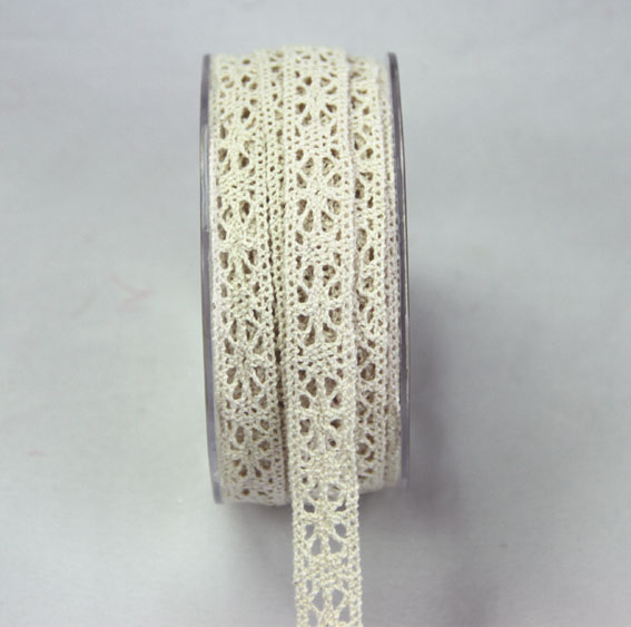 20m Lace Ribbon, 12mm Cream