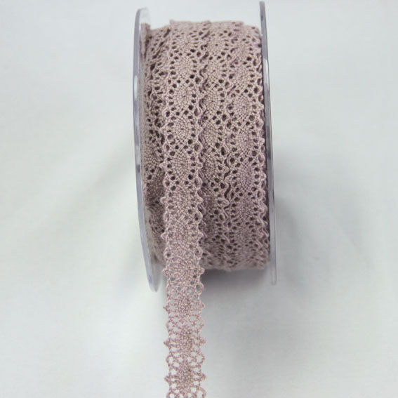 20m Lace Ribbon, 12mm Mauve