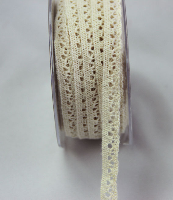 20m Lace Ribbon, 9mm Cream