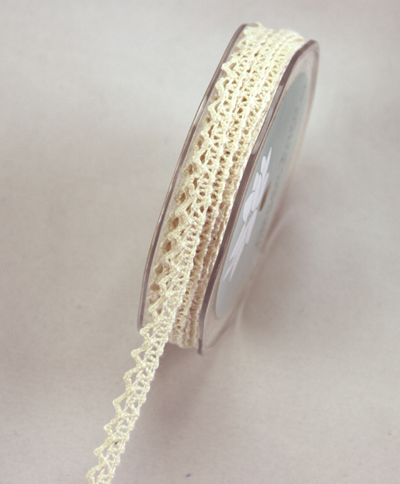9mm Lace Ribbon 20m Cream