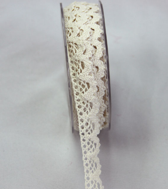 10m Lace Ribbon, 18mm Cream