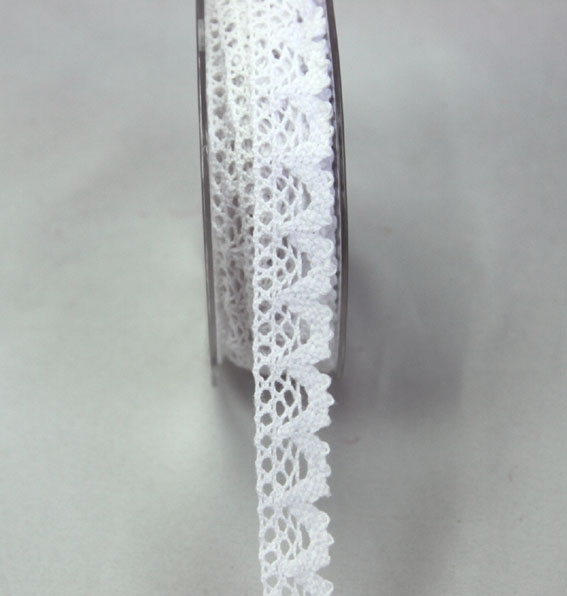 10m Lace Ribbon, 18mm White