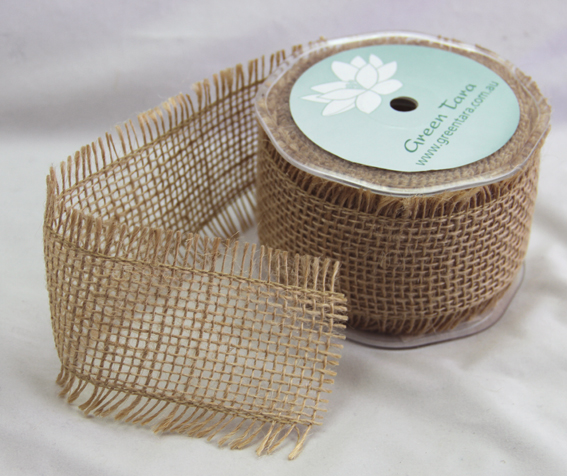 *NEW* 10 Yards Burlap Ribbon 65mm, Natural