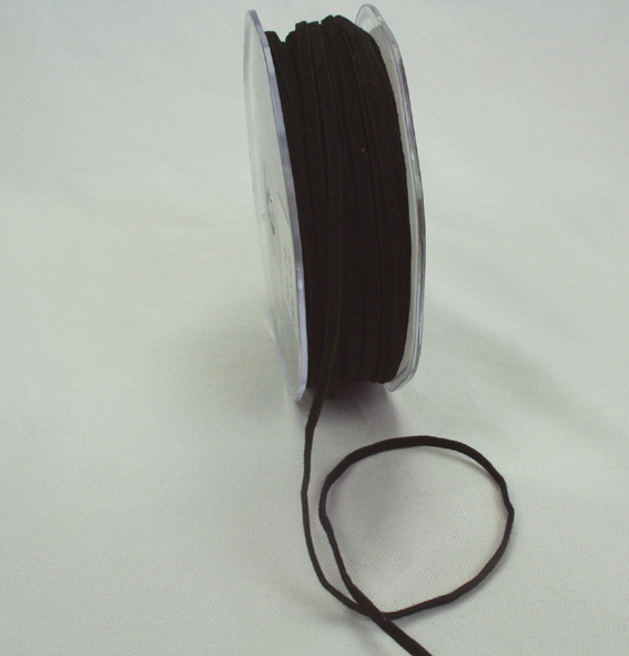 3mm Suede Cord 50m Black