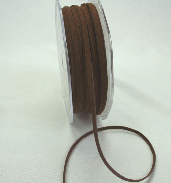 3mm Suede Cord 50m Dark Brown