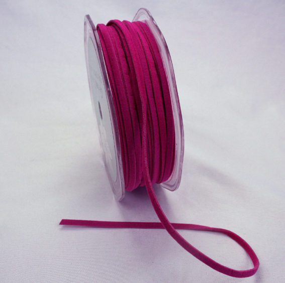 3mm Suede Cord 50m Hot Pink