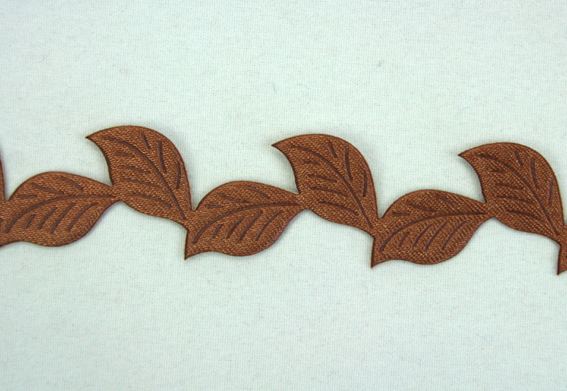 20mm Self Adhesive Leaf Garland 10m Roll Brown