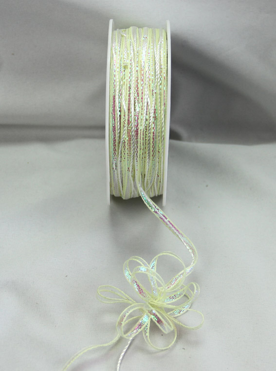 4mm Pull Bow Ribbon 25m, Ivory