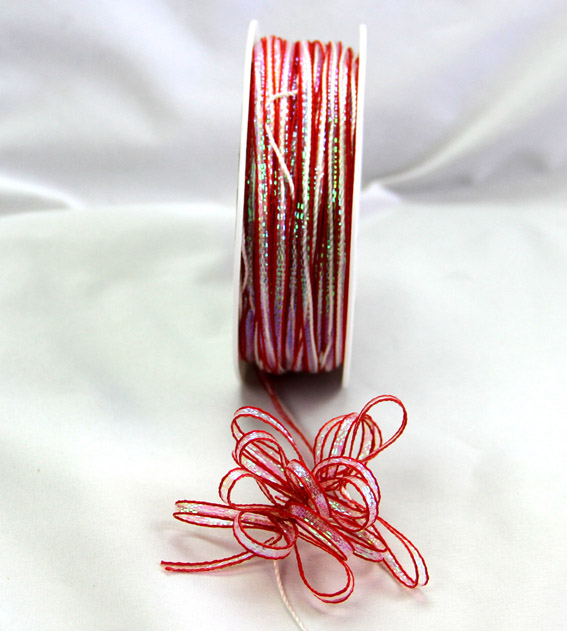 4mm Pull Bow Ribbon 25m, Red