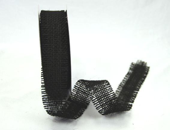 38mm Burlap Ribbon 10 yds, Black