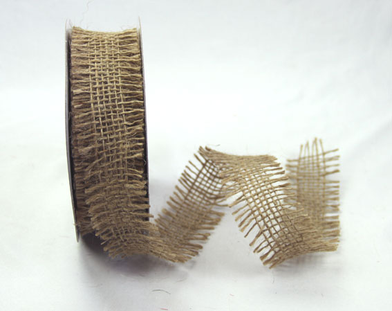 38mm Burlap Ribbon 10 yds, Coffee