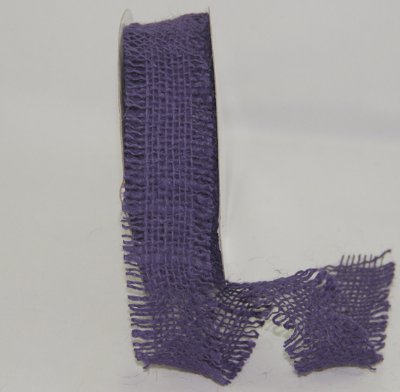 38mm Burlap Ribbon 10 yds, Violet