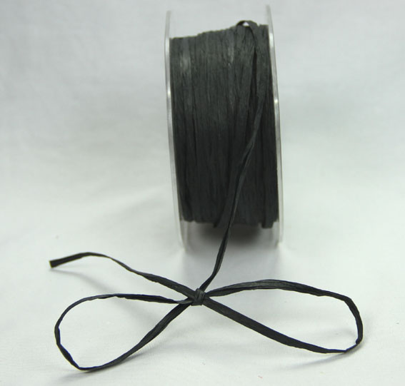 5mm Raffia 100yds (91.5m) roll Black