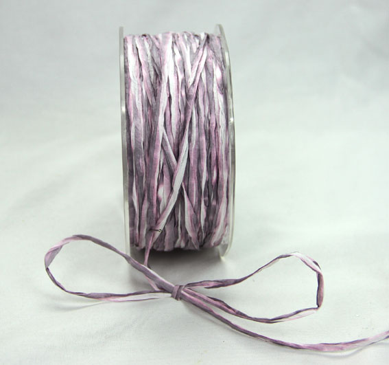 5mm Raffia 100yds (91.5m) roll Pink/Grey