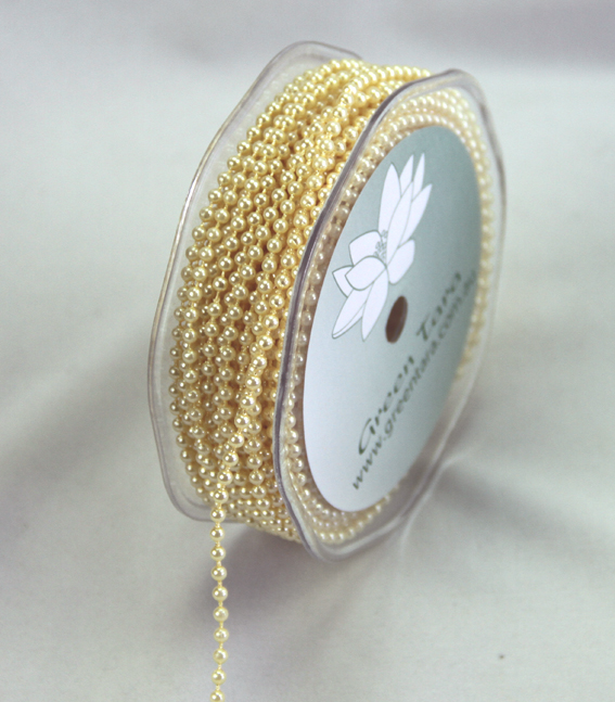 3mm Pearl Trim 20m Roll Ivory