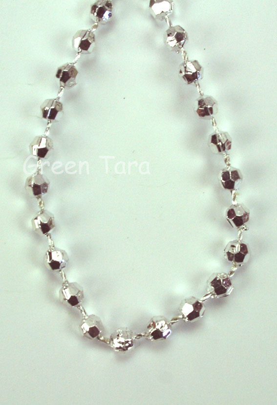 3mm Bead Garland, Silver