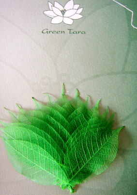 15 Jade Skeleton Leaves