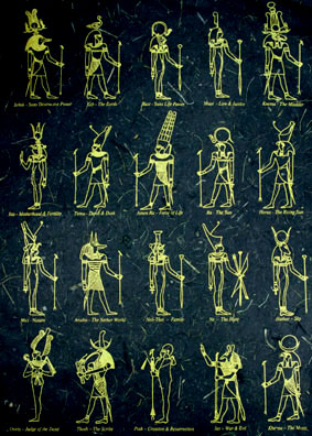 "Paper Sheets ""Egyptian"" Black/Gold"