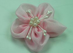 Sakura 5cm Silk and Pearl Flowers Pale Pink