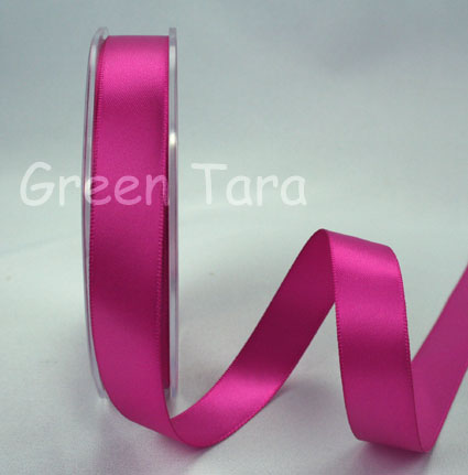 15mm Double Sided Satin Ribbon 25m Cerise