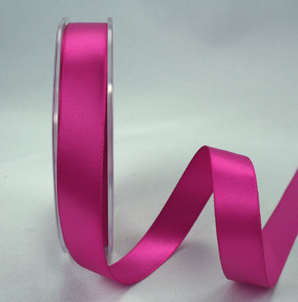25mm Double Sided Satin 25m Cerise
