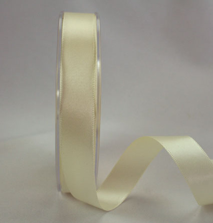 25mm Double Sided Satin 25m Ivory