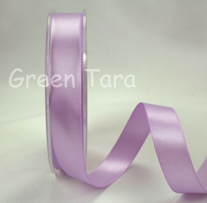 15mm Double Sided Satin Ribbon 25m Lavender