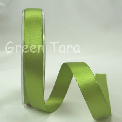 15mm Double Sided Satin Ribbon 25m Olive
