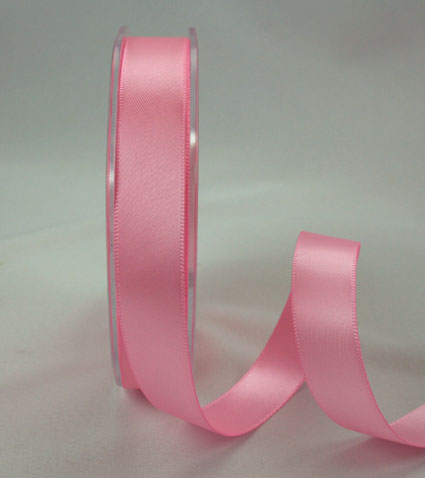 25mm Double Sided Satin 25m Pink
