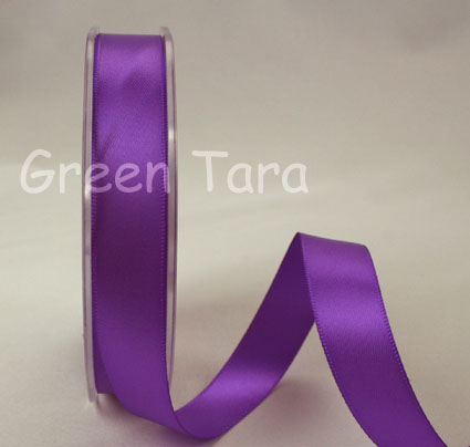 15mm Double Sided Satin Ribbon 25m Purple