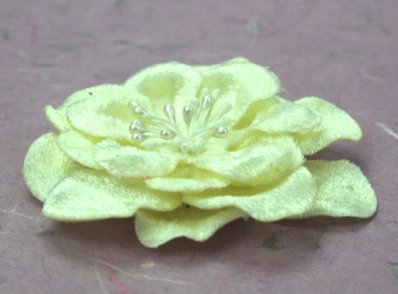 Velvet Rose 8cm Velvet Flowers Cream 12 pcs